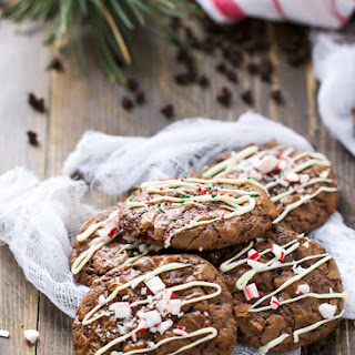 Chocolate Brownie Christmas Cookies