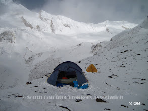Photo: Camp-I, covered with snow