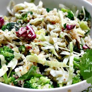 Miso Broccoli and Quinoa Salad.