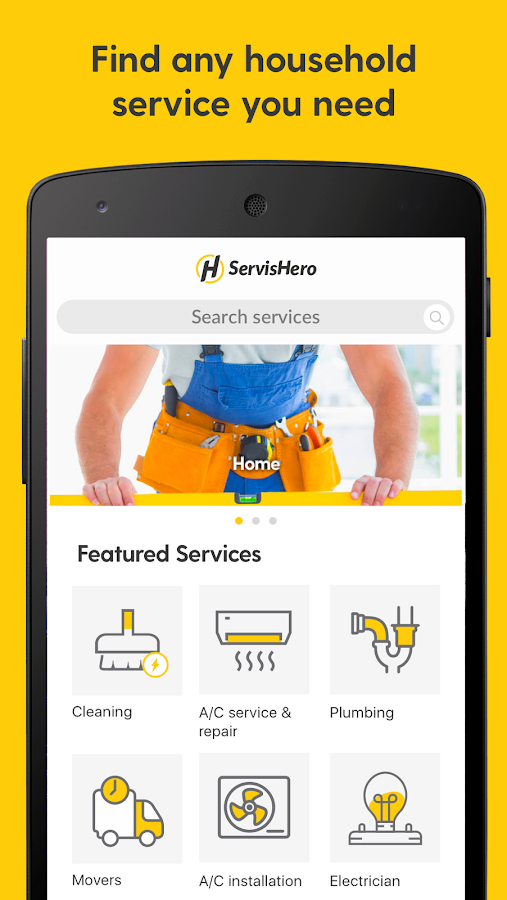 ServisHero: On demand services- screenshot
