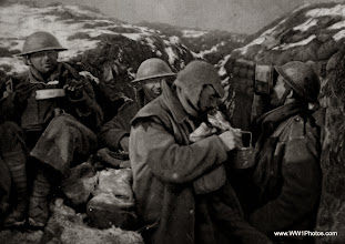 Photo: A Meal In The Front Line Trench