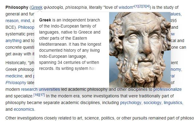 Wikipedia popup autoclose