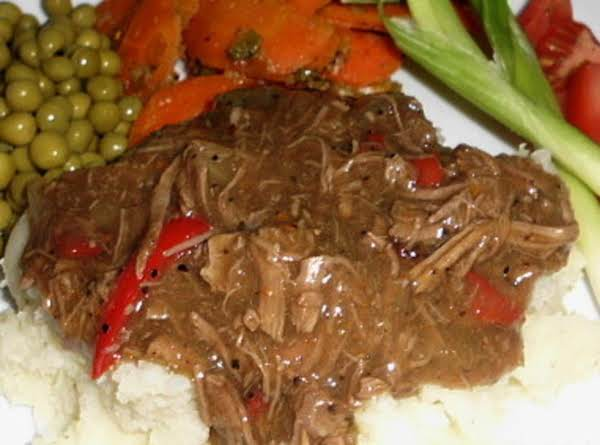 Shredded Beef With Peppers And Onions