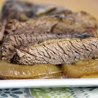 Slow Cooked Brisket with Sweet Onions.