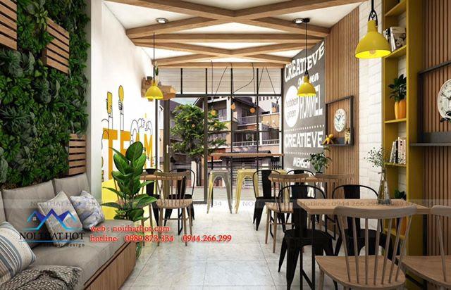 thiết kế quán cafe, nước hoa quả