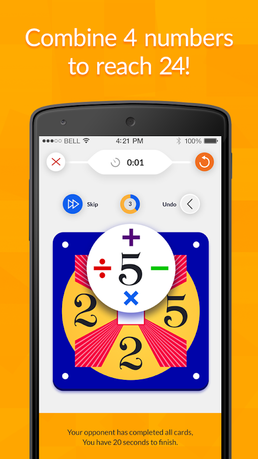 24 Game – Math Card Game- screenshot