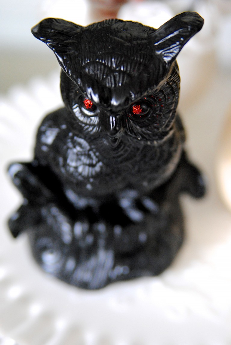 Creepy Ceramic Owl: These 30 DIY Halloween Decorations That Are Wickedly Creative will save you money and allow your creativity to flourish