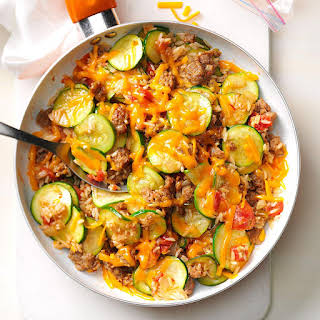 Zucchini & Sausage Stovetop Casserole.