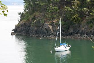 Photo: Jones Island bouy on a calm day