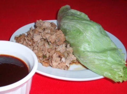 """Low Carb Low Fat Asian Lettuce Wraps with Dipping Sauce """"These wraps..."""