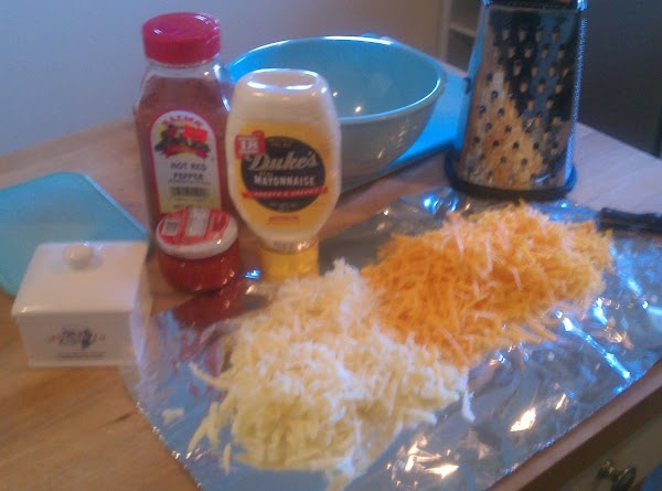 Hand grate your cheddar cheese's on your work surface for easy preparation!!!