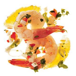 Spicy Shrimp Ceviche With Cilantro.