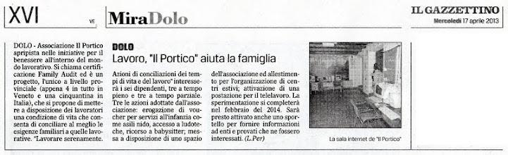 Photo: Il Gazzettino di Venezia (17.04.2013)