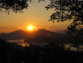 Photo: Day 265 -   Sunset over the Mekong River from  Phousi Hill