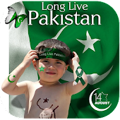Pak Flag On Face 2017
