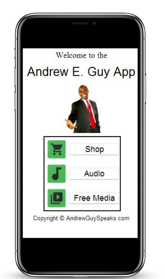 Andrew Guy App- screenshot