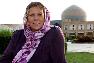 Photo: Day 136 - Dee with Masjed Sheikh Lotfolla in Background in Esfahan