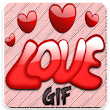Love image gif with add Text icon