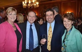 Photo: Clerk Maura Doyle (SJC), Justice Ralph Gants (SJC), Daniel Dain (Dain Torpy), and BBF President-Elect Lisa Goodheart.