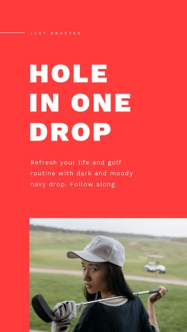 Hole in One Drop - Facebook Story Template