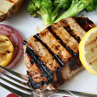 Lemon Honey Pork Chops with Healthy Salt Alternative.