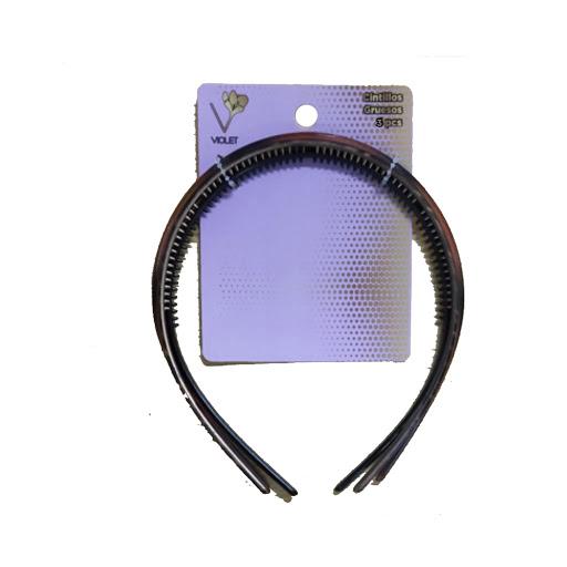 cintillos gruesos violet x3 und