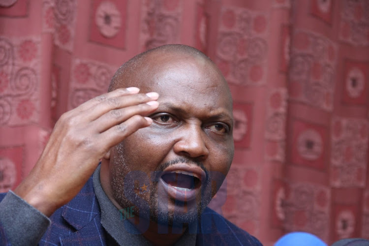 Gatundu MP Moses Kuria during a press conference at Parliament Buildings on January 8, 2019.