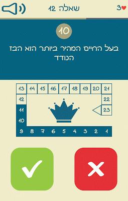 אמת או שקר - טריוויה בעברית - screenshot