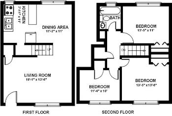 Go to Three Bedroom Townhouse Floorplan page.