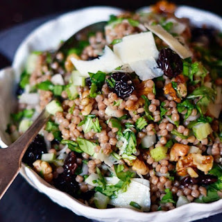 Whole Wheat Pearl Couscous with Cherries & Arugula.