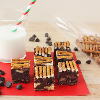 Chocolate Fudge with Walnuts, Cranberries, and Pretzels