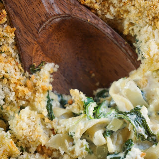 Spinach and Ricotta Noodle Kugel