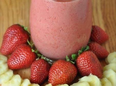 Frozen Strawberry-banana Margarita