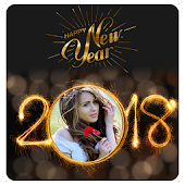 2018 New Year Photo Frames Greetings Wishes