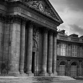 Paris Museum by George Nichols - Black & White Buildings & Architecture ( paris, black and white, architecture, museum,  )
