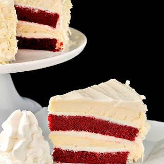 Cheesecake Factory Red Velvet Cheesecake.