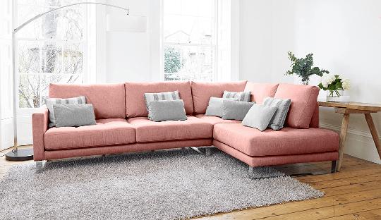 Cảm hứng ghế sofa màu hồng