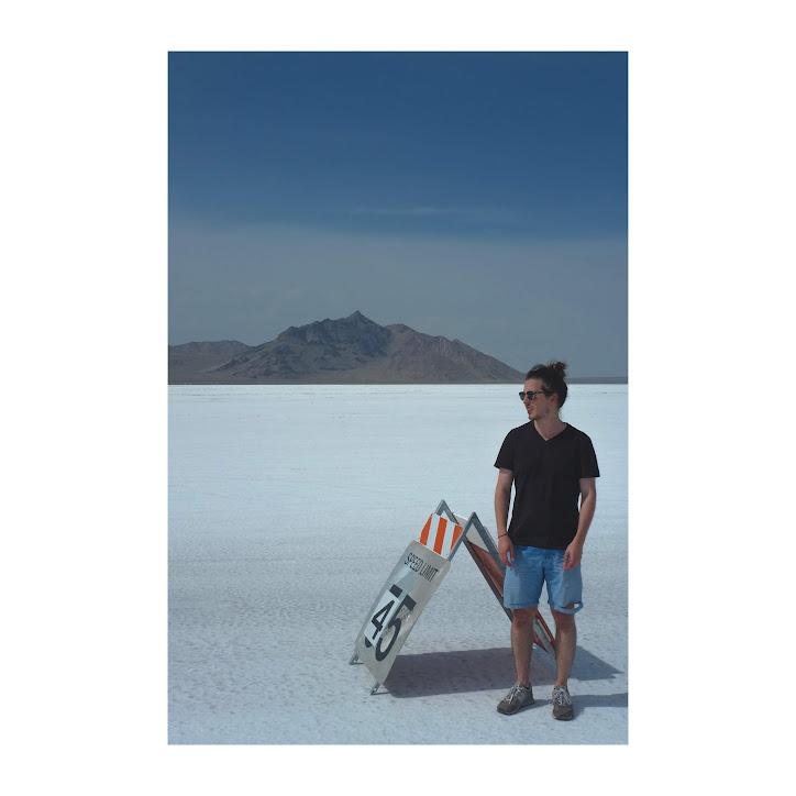 Pózovanie na soľnej púšti