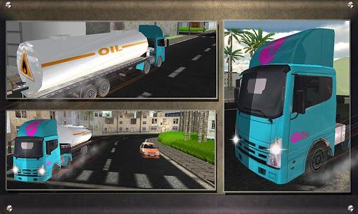 リアルオイルタンカートラックの運転手