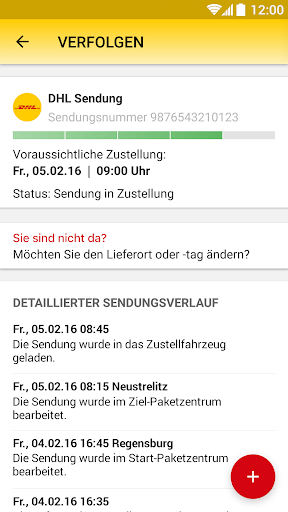 DHL Paket screenshot 3