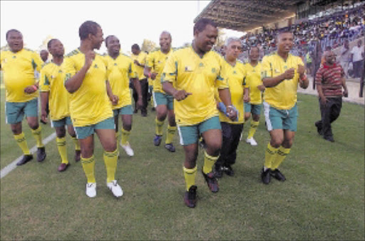 WE'RE READY: KwaZulu-Natal Premier Zweli Mkhize leads his team of provincial cabinet members at the official opening of the Harry Gwala Stadium in Pietermaritzburg yesterday. Pic: Master Masonkuthu. 04/02/2010. © Sowetan.