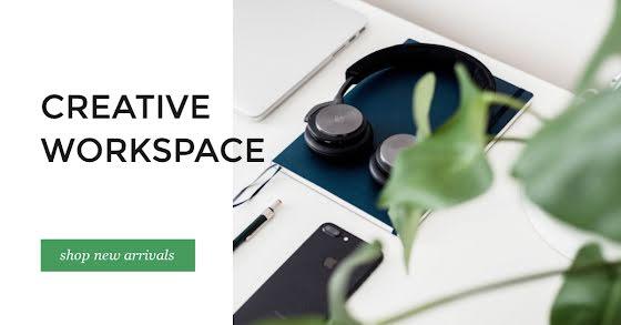 Creative Workspace - Facebook Event Cover Template