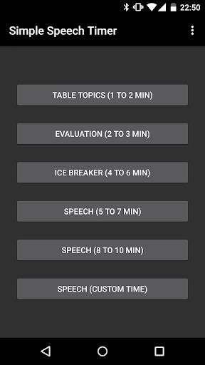 Simple Speech Timer