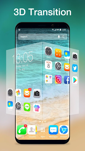 Screenshot for iLauncher OS11-Phone X style in United States Play Store