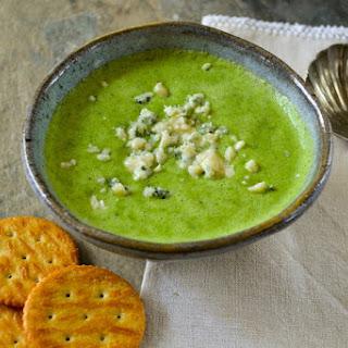 Quick Blender Broccoli and Stilton Soup.