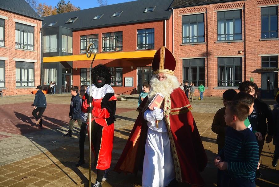 De Sint bracht een bezoek aan onze school