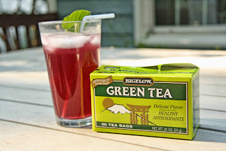 Photo: Mission accomplished - Sparkling Blueberry Mint Green Tea!