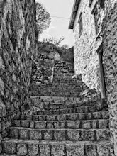 Photo: Stone stairs I was attracted to the textures and contrast of these stairs, as I was going down the countless stairs in Hydra, near Athens, Greece. This is what I saw when I was halfway down, looking back up. (feel free to reshare!)