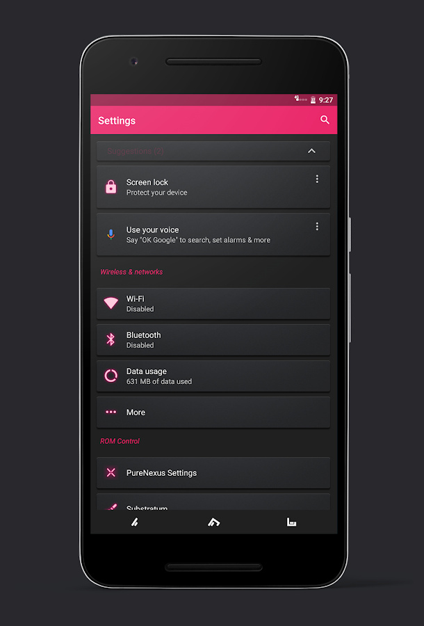 Glow Substratum Theme- screenshot
