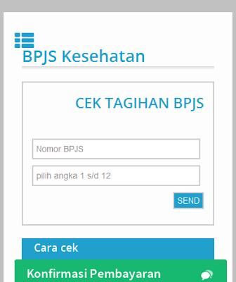 Info tagihan bpjs Kesehatan - screenshot